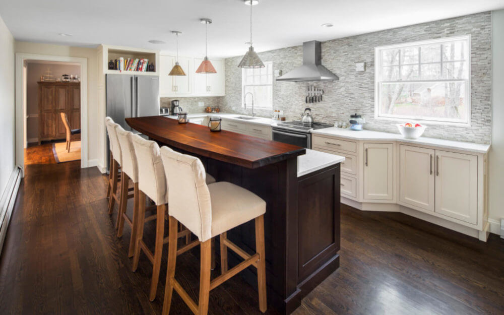 Duxbury Colonial Transformation Kitchen